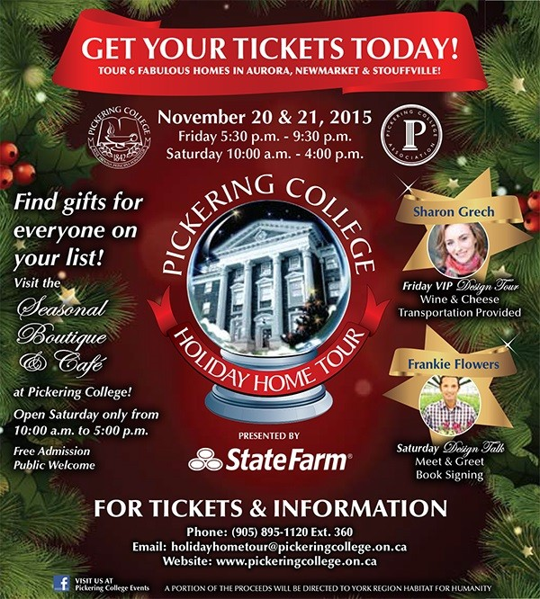 13th Annual Pickering College Holiday Home Tour